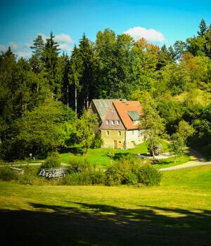 Wanderurlaub in den Wäldern in der Ostschweiz