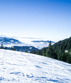Schneelandschaft im Vorarlberg