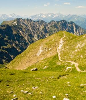 Wanderurlaub in den Bergen im Allgäu